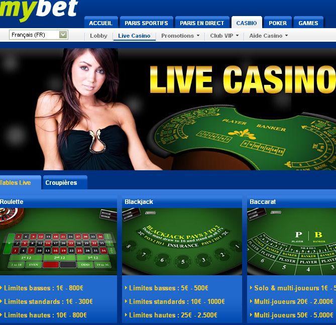 Mybet Casino s'équipe des tables Evolution Gaming