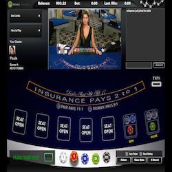 Live blackjack VIG sur Celtic Casino