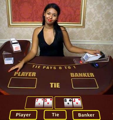 Baccarat sur Casino Noir