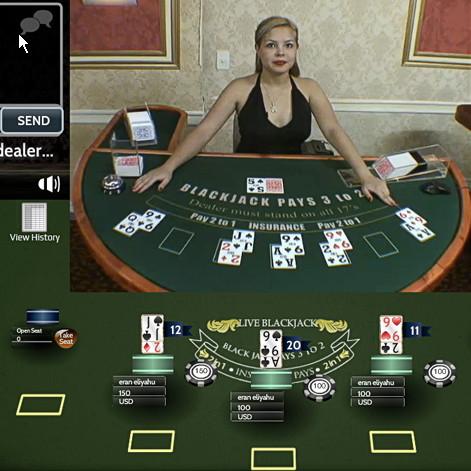 Blackjack en live sur Casino Noir