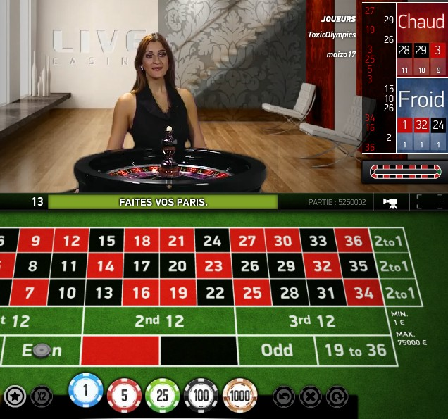 Live Roulette Netent sur Eypobet Casino