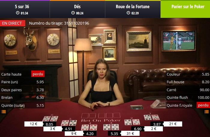Bet on Poker sur Lucky31