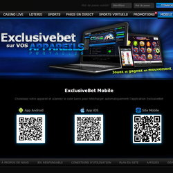 Exclusibet Casino : 550 jeux mobile