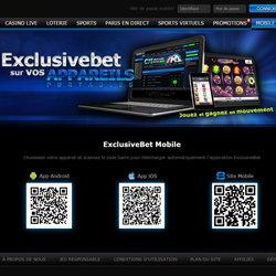 Exclusibet Casino : 550 jeux mobile