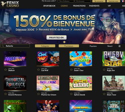 Fenix Casino avec Croupiers en direct