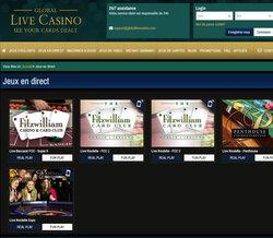 Jeux en direct de Global Live Casino