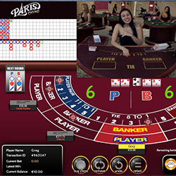 Live Baccarat Paris Casino