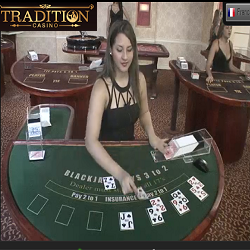 Blackjack en live sur Tradition casino