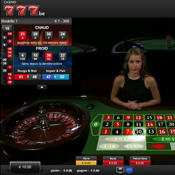 Roulette accessible sur Casino777
