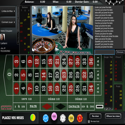 Roulette en live Visionary Igaming