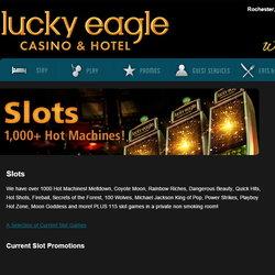 Bug sur une machine a sous du Lucky Eagle Casino