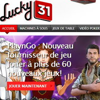 Machines a sous PlaynGo sur Lucky31