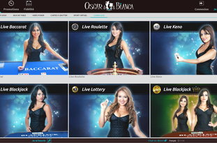 Oscar Bianca Casino avec croupiers en direct
