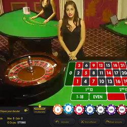 Roulette en live Euromoon casino