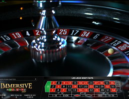 Roulette Immersive accessible sur Paris Vegas Casino