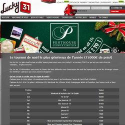 Tournoi Live sur Lucky31 Casino Noel 2015