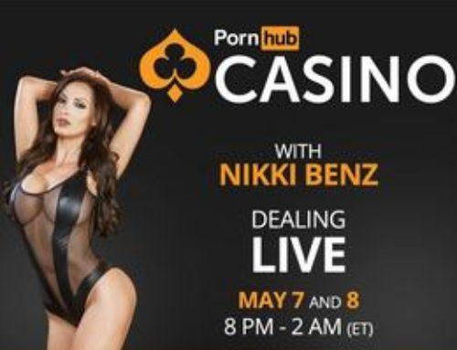 Nikki Benz joue la croupière sur PornhubCasino