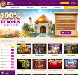 Wild Sultan, live casino de renom