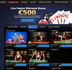 Blackjack en ligne Exclusivebet Casino