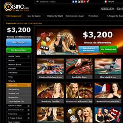 Casino.com est un live casino avec croupiers en direct
