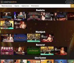 Casino Extra avec croupiers en direct