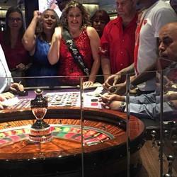 Leslie Sategna a la roulette du Aria Casino
