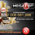Machine a sous jackpot progressif Partouche Megapot explose