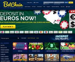 Betchain, leader de live casino Bitcoin