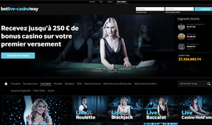 Betway Casino: jeux live avec croupiers en direct