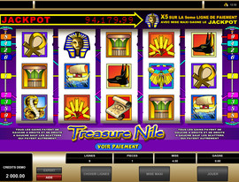 Jackpot progressif Treasure Nile de Microgaming