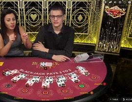 Blackjack Party est la meilleure table de live blackjack