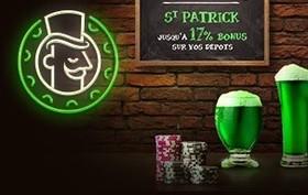 Bonus Monsieur Vegas pour la Saint Patrick