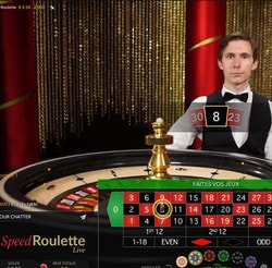 Roulette en ligne Speed Roulette d'Evolution Gaming
