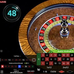 Roulette automatique live 60s d'Authentic Gaming
