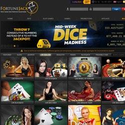 FortuneJack, le live casino Bitcoin