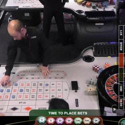 Roulette avec croupiers en direct
