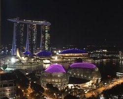 Marina Bay Sands by Night par Croupiers en Direct