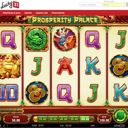 Machine à sous Prosperity Palace de Play'n Go sur Lucky31 Casino