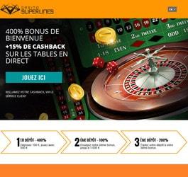 Casino Superlines intègre Croupiers en Direct avec son bonus cashback