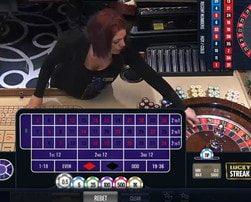 Roulette LuckyStreak en direct d'un vrai casino terrestre