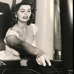 Sophia Loren au Casino Saint-Vincent en Italie