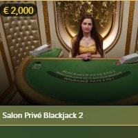 Salon Privé Blackjack du logiciel Evolution Gaming