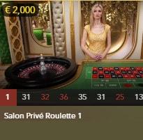 Salon Privé Roulette : table de roulette en ligne pour joueurs VIP