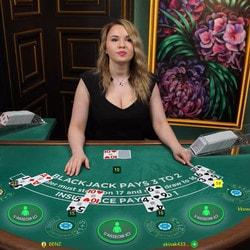 Blackjack en ligne avec croupiers en direct