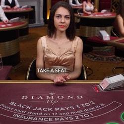 Blackjack Diamond VIP : table de blackjack en live d'Evolution Gaming