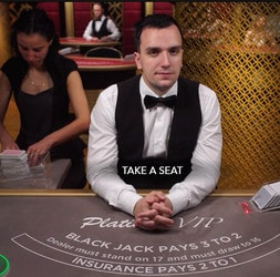 Blackjack Platinum VIP : table de blackjack en ligne VIP par Evolution Gaming