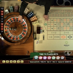Vidéo Roulette 360 d'Ezugi en direct d'Oracle Casino