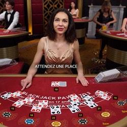 Blackjack en ligne VIP avec Croupiers en Direct