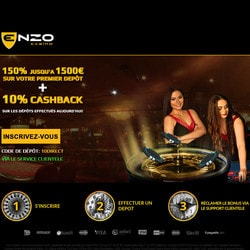 Enzo Casino sur Croupiers en Direct