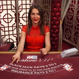 Live Blackjack VIP avec croupiers en direct sur Evolution Gaming